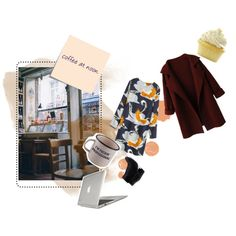 """coffee at noon"" by damselell on Polyvore"