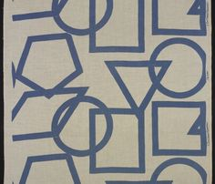 "Dan Cooper, ""Polygons,"" 1940-45. Printed cotton. Courtesy Yale University Art Gallery"