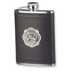 7 oz. Stainless Steel Pewter Firefighter Emblem Flask Jewelry Adviser Gifts. $46.25