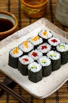 Learn how to make delicious Sushi Rolls or Maki Sushi (Hosomaki) at home! To get started, you just need a few ingredients like tuna, cucumber, nori, and Japanese short-grain rice. #sushi #japanesefood #rice | Easy Japanese Recipes at JustOneCookbook.com Maki Sushi Roll, Sushi Rolls, Sushi Sushi, Cucumber Rolls, Cucumber Recipes, Sushi Roll Recipes, Delicious Desserts, Yummy Food, Gourmet Desserts