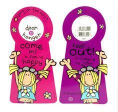 Cool Door Hangers bang on the door dizzy dancing girl door hanger come in keep out