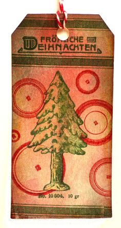Christmas stamp / Christmas tree / Unmounted rubber by MAKIstamps