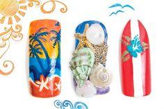 beach themed nail art @nailsmagazine
