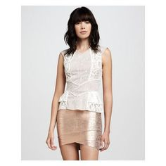 BCBGMAXAZRIA Mixed-Lace Top & AWESOME Miniskirt