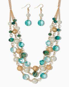 charming charlie | Stardust Serenade Necklace Set | UPC: 3000662488 #charmingcharlie