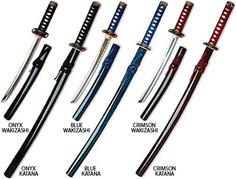 Samurai Swords, steel blades