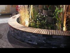DIY: tuinbank met organische vorm - Eigen Huis & Tuin - YouTube Outside Living, Fountain, Sweet Home, Exterior, Gardening, Outdoor Decor, Flowers, Inspiration, Home Decor