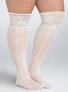 97e09c78e6e Mixed Stitch Over The Knee Socks