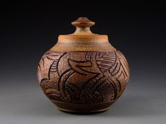Carved Clay Pottery