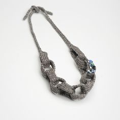 Valentina Knitted Necklace by Helena G.   knits & bits