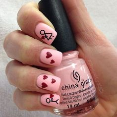 """""""I carry my heart looking for you. Sure through my travels there maybe false love here and there. But through it all and in the end. I will find you ❤️❤️. . China Glaze colour """"Spring In My Step"""""""" Photo taken by @professionalnailss on Instagram, pinned via the InstaPin iOS App! http://www.instapinapp.com (02/02/2016)"""
