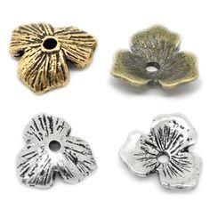 20 Blumen Perlenkappen 11mm f. 14-20mm Perlen silber gold bronze Kappe | Perlenkappen | Bacabella.com | Perlen, Schmuck und Schmuckzubehör zum Schmuck selber machen | Schmuck basteln DIY DoItYourself | ganz individuell und einfach