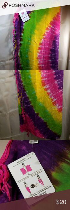 Sarongs...Womens Pink, Purple, Yellow and Lime Sarong 1 World Sarongs Swim Sarongs