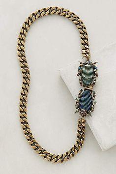 Goldsmith Beetle Necklace - anthropologie.com#anthrofave