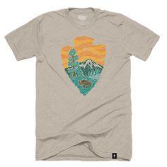 Woodcut National Parks Arrowhead T-shirt - Pre-order