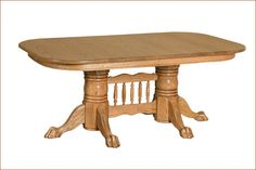 Newport Double Pedestal Table w/Empire Feet or Claw Feet
