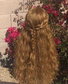 Pretty Hairstyles, Wedding Hairstyles, Kid Hairstyles, Natural Hairstyles, Hair Inspo, Hair Inspiration, Wavy Hair, Blonde Hair, Honey Blond