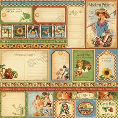 August Journal Cards: