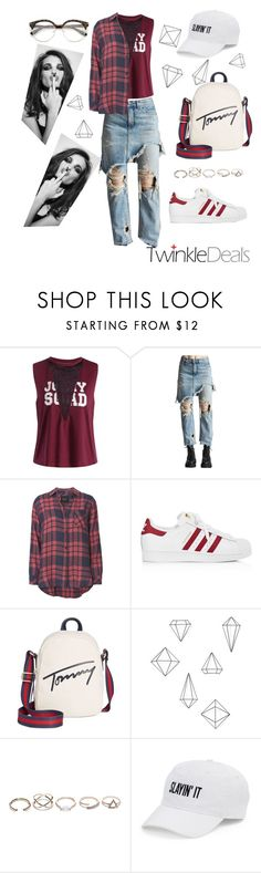 """""""#Twinkledeals.com"""" by anjastrukar-1 ❤ liked on Polyvore featuring R13, Rails, adidas, Tommy Hilfiger, Whiteley, Umbra, GUESS and SO"""