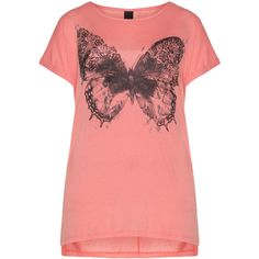 dbe0833fead Adia Coral-Orange   Black Plus Size Glitter print motif t-shirt ( 44