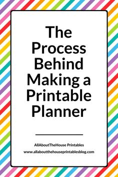 How to make planner printables advice from a planner addict thats the process behind making a printable planner saigontimesfo