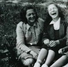 Margot Frank and a friend in 1941.
