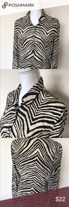 [ t h e . l i m i t e d . b l o u s e ] The Limited zebra print blouse. Great condition silk top! The Limited Tops Blouses