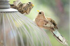 Clip-On Scrapbook Paper Birds