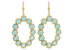 Azure Swarovski Crystal Earrings | A Fine Romance | One Kings Lane