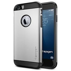 iPhone 6 Case, Spigen Slim Armor Case for iPhone 6 (4.7-Inch) - Retail Packaging -  Satin Silver (SGP10958)