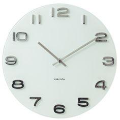 Nástenné hodiny Vintage kulaté – biele   To si VEMZU. To musím mať! Wall Clock Online, Decoration, Holland, Retro, Analog Signal, Antique Wall Clocks, Country Cottage Decorating, Decor, The Nederlands