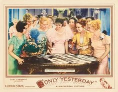 Lobby card for Only Yesterday (1933) starring John Boles and Marie Prevost.