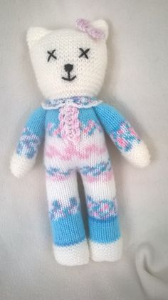 Hand Knitted Teddy by DreamDollies on Etsy