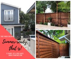 We are loving this horizontal fence and the sleek modern balcony rail that we had the opportunity to install. Building A Gate, Cedar Stain, Modern Balcony, Fence Styles, Fence Plants, Wrought Iron Fences, Automatic Gate, Horizontal Fence, Balcony Railing