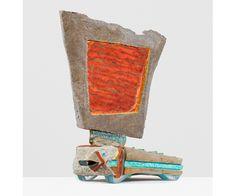 ANDRZEJ ZIELINSKI Data Recovery? 2016 Australian sandstone, agate, zebra rock, West Australian variscite, river red gum wood, plywood, copper, acrylic and encaustic paint 78 × 66 × 33 cm (30.75 × 26 × 13 in)