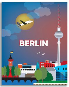 Travel Poster Berlin, Germany