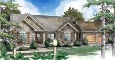 Delightful Mountain Ranch Home Plan - 26634GG | Architectural Designs - House Plans