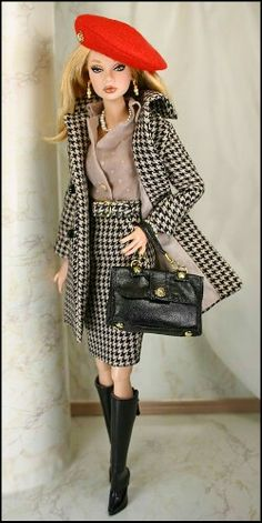 ~joli tailleur manteau - jupe **+ - Expolore the best and the special ideas about Fashion dolls Fashion Dolls, Fashion Royalty Dolls, Barbie Fashion Designer, Barbie Fashionista, Beautiful Barbie Dolls, Vintage Barbie Dolls, Barbie Dress, Barbie Clothes, Image Fashion