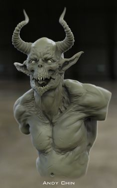 ArtStation - horned satyr goblin, Andy Chin