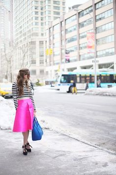 Winter Brights: Hot Pink and Chartreuse
