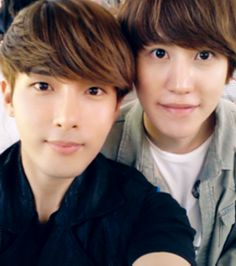 SJ RyeoWook & Kyuhyun such an adorable picture