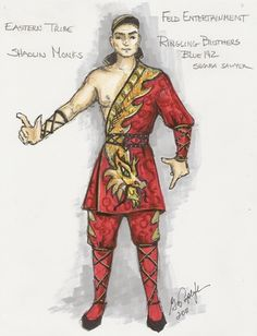 Gregory A. Poplyk Costume Design for Ringling Brothers and Barnum & Bailey Circus: Dragons! Costume Design Sketch, Barnum Bailey Circus, Ringling Brothers, Samba Costume, Fantasy Characters, Couture Fashion, Sketches, Wonder Woman, Superhero