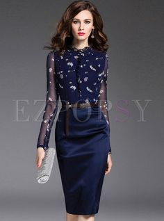 Shop for high quality Elegant Mesh Slim Bodycon Dress online at cheap prices and discover fashion at Ezpopsy.com