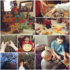 #latergram #quiet Sunday in the #sickhouse on #day14 we put out more #birdcakes for the garden birds, played with our food, found out about tessalation, did some more of our family puzzle and helped baby do his first puzzle. #100daysofhomeed #halflingshomeed #unschooling