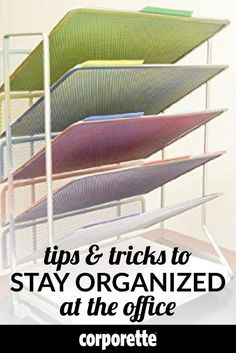 Tips and tricks to stay organized at the office! Lawyers and other professional women share their best systems for getting organized and staying organized with different tasks, assignments, clients, projects, pleadings, and more. | Corporette
