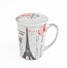 Paris mug with lid