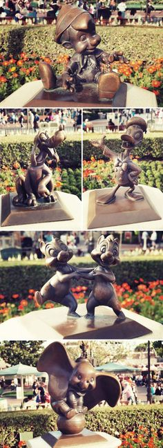 """Statues at Disneyland.---these statues are so beautiful when you take your time to look at them. just as beautiful as the """"Partners"""" statue. :)"""