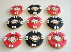 Poker chip sugar cookies!! Cute