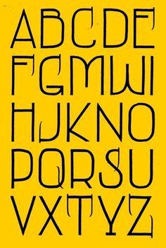 "Alfabet based on the the lettering of ""Het Sportfondse Bad""."