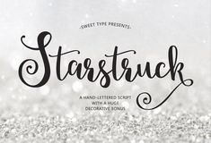 Starstruck hand-lettered script by Emily Spadoni #ad